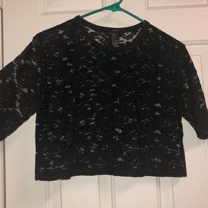 F21 Lace short tee crop